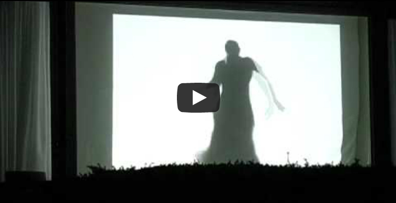 Halloween Audio Video Window Projection 2010