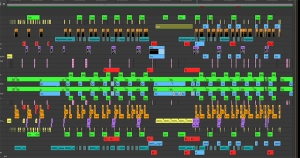 A/V timeline from Daniele Hopkins & Kyle Duffield's video-music piece for Videodrome 2013