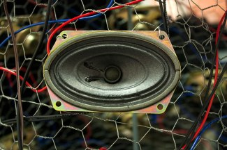 Close up of speaker used in Hive