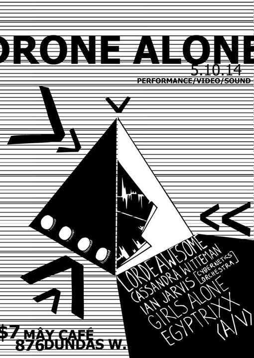 Drone Alone Event Poster