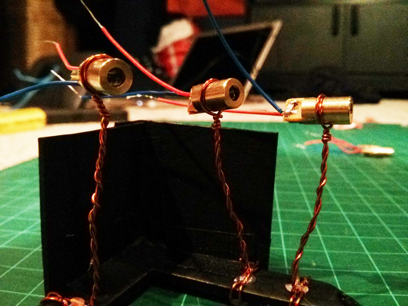 Early stages of laser mount