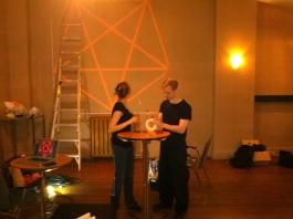 Kyle and Daniele setting up laser pentagram