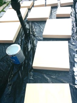 Painting our wall tiles!