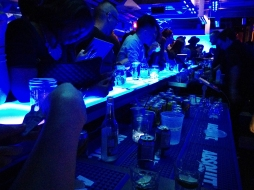 Absolut Nights LED Tiles on Bar Top